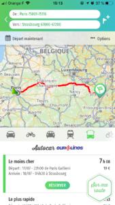 Autocar longue distance Eurolines