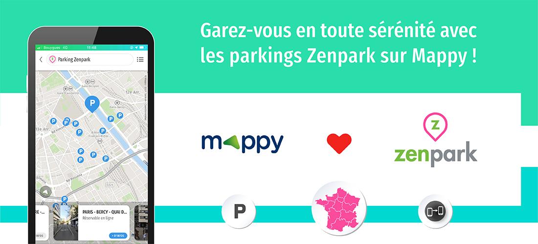 places de parking Zenpark sur Mappy